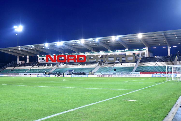 14.02.2020, Preußenstadion, Münster, GER, 3.FBL, SC Preussen Muenster vs. FC Wuerzburger Kickers, <br /> <br /> DFL REGULATIONS PROHIBIT ANY USE OF PHOTOGRAPHS AS IMAGE SEQUENCES AND/OR QUASI-VIDEO<br /> <br /> im Bild<br /> Haupttribüne im Preußenstadion. Feature / Symbol / Symbolfoto / charakteristisch / Detail <br /> <br /> <br /> Foto © nordphoto / Paetzel