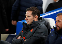 25th February 2020; Stamford Bridge, London, England; UEFA Champions League Football, Chelsea versus Bayern Munich; Chelsea Manager Frank Lampard sitting in the dugout