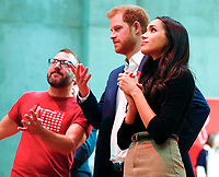 01 December 2017 - Prince Harry and Meghan Markle tour the Terrence Higgins Trust World AIDS Day charity fair at Nottingham Contemporary in Nottingham, Nottinghamshire. Photo Credit: ALPR/AdMedia