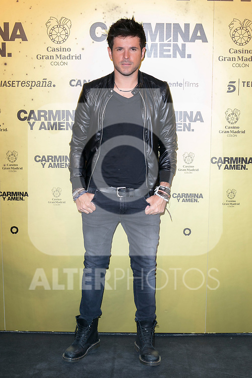 "Spanish singer Pablo Lopez attend the Premiere of the movie ""Carmina y Amen"" at the Callao Cinema in Madrid, Spain. April 28, 2014. (ALTERPHOTOS/Carlos Dafonte)"