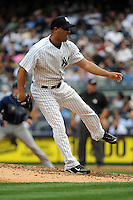 New York Yankees pitcher Raul Valdes #61 during a game against the Tampa Bay Rays at Yankee Stadium on September 21, 2011 in Bronx, NY.  Yankees defeated Rays 4-2.  Tomasso DeRosa/Four Seam Images