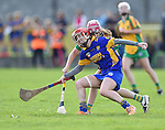 Aoife Griffin of Newmarket in action against Andrea O Keeffe of Inagh-Kilnamona during their senior county final in Clarecastle. Photograph by John Kelly.