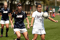 SAN ANTONIO, TX - AUGUST 19, 2012: The University of Dayton Flyers versus the University of Texas at San Antonio Roadrunners Women's Soccer at the UTSA Recreational Sports Complex. (Photo by Jeff Huehn)