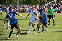 Kansas City, MO - Sunday May 07, 2017: Yael Averbuch, Maddy Evans, Becky Sauerbrunn, Lo'eau Labonta during a regular season National Women's Soccer League (NWSL) match between FC Kansas City and the Orlando Pride at Children's Mercy Victory Field.