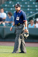 June 21, 2009:  International League Home Plate umpire Jason Klein during a game at Frontier Field in Rochester, NY.  Photo by:  Mike Janes/Four Seam Images