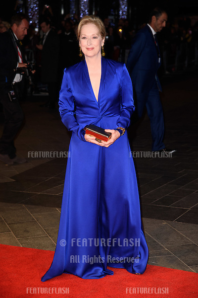 Meryl Streep at the BFI London Film Festival premiere of &quot;Suffragette&quot; at the Odeon Leicester Square, London.<br /> October 7, 2015  London, UK<br /> Picture: Steve Vas / Featureflash