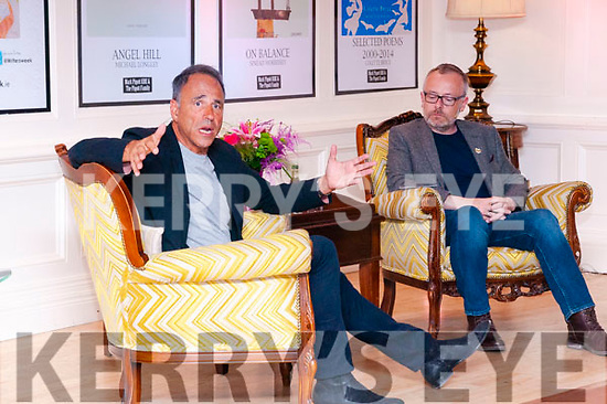 Writers Week : Author Anthony Horowitz on stage at the Listowel Arms Hotel with RTE's Rick O'Shea on Saturday night last.
