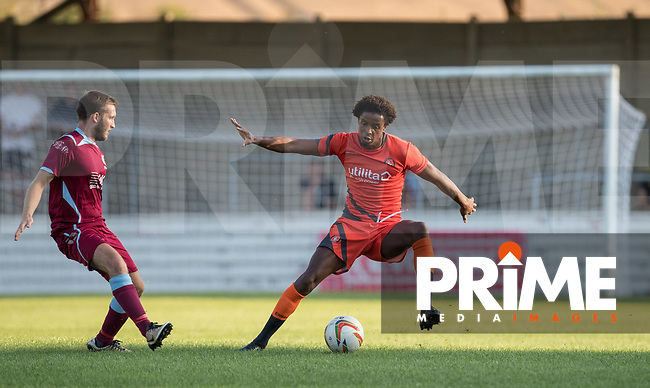 Sido Jombati of Wycombe Wanderers during the 2018/19 Pre Season Friendly match between Chesham United and Wycombe Wanderers at the Meadow , Chesham, England on 24 July 2018. Photo by Andy Rowland.