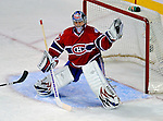 11 November 2008: Montreal Canadiens' goaltender Carey Price makes a glove save in the third period  against the Ottawa Senators at the Bell Centre, in Montreal, Quebec, Canada. The Canadiens shut out the Senators 4-0 as the Habs celebrate their 100th Season...Mandatory Photo Credit: Ed Wolfstein Photo *** Editorial Sales through Icon Sports Media *** www.iconsportsmedia.com