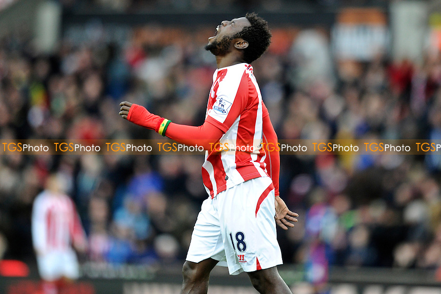 Mame Biram Diouf of Stoke City dejected after a missed chance - Stoke City vs Manchester United - Barclays Premier League Football at the Britannia Stadium, Stoke-on-Trent - 01/01/15 - MANDATORY CREDIT: Greig Bertram/TGSPHOTO - Self billing applies where appropriate - contact@tgsphoto.co.uk - NO UNPAID USE