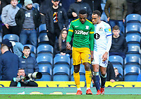 Blackburn Rovers' Elliott Bennett consoles Preston North End's Darnell Fisher after he was sent off<br /> <br /> Photographer Alex Dodd/CameraSport<br /> <br /> The EFL Sky Bet Championship - Blackburn Rovers v Preston North End - Saturday 9th March 2019 - Ewood Park - Blackburn<br /> <br /> World Copyright © 2019 CameraSport. All rights reserved. 43 Linden Ave. Countesthorpe. Leicester. England. LE8 5PG - Tel: +44 (0) 116 277 4147 - admin@camerasport.com - www.camerasport.com