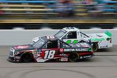 #18: Harrison Burton, Kyle Busch Motorsports, Toyota Tundra Morton Buildings and #44: Ross Chastain, Niece Motorsports, Chevrolet Silverado TruNorth/Paul Jr. Designs