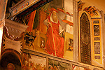 Detail of a 16th century fresco in the church of S. Vincenzo in Gera Lario, a town on Lake Como, Italy