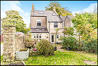 BNPS.co.uk (01202 558833)<br /> Pic: Bridgfords/BNPS<br /> <br /> Home is where the art is...Matchstick man LS Lowry's former home in Manchester could be yours - complete with his paint splattered floor boards in the dining room.<br /> <br /> The famous painter renowned for his matchstick men in urban landscapes lived in The Elms in Mottram, Greater Manchester, for 28 years until his death in 1976 and produced several important works in his studio in what is now the dining room.<br /> <br /> The Grade II listed house, which has a blue plaque dedicated to Lowry on the wall, is now on the market with Bridgfords for offers over &pound;325,000.