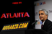U.S. Soccer President and USA Bid Committee Chairman Sunil Gulati announces Atlanta as one of the 18 cities to be submitted to FIFA as part of the bid to host the 2018 or 2022 FIFA World Cup at the ESPN Zone in Times Square, NYC, NY, on January 12, 2010.