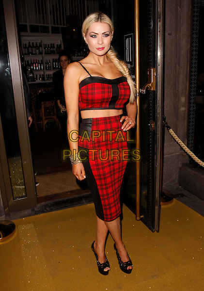 LONDON, ENGLAND - FEBRUARY 27 : Nicola McLean arrives at the Inanch London - launch party at the Iberica Marylebone Restaurant  on February 27, 2014 in London, England.<br /> CAP/AH<br /> &copy;Adam Houghton/Capital Pictures