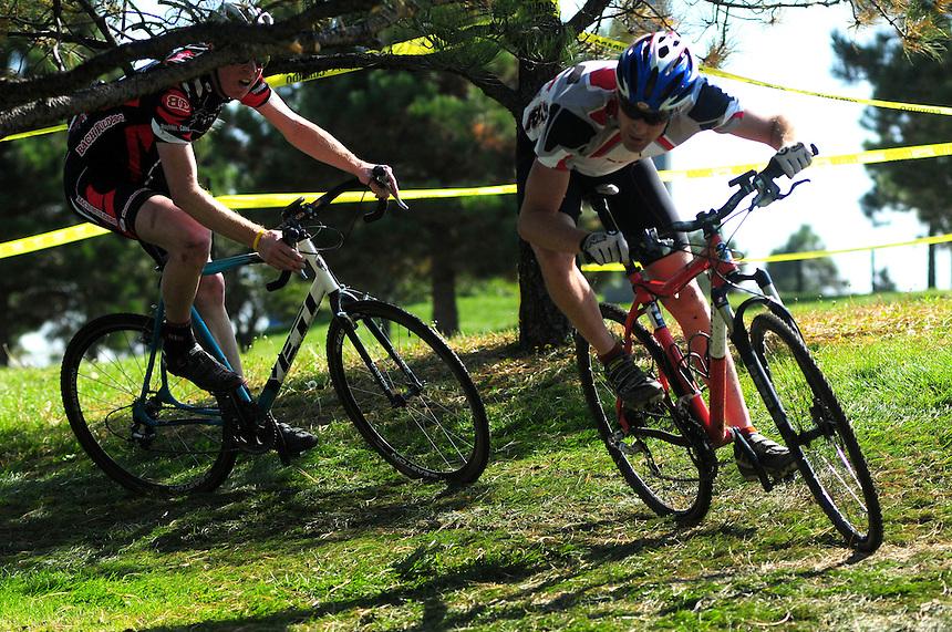 September 27, 2008 Boulder Racing cyclocross at Interlocken in Broomfield, Colorado.