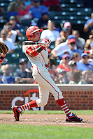 Infielder Alexis Pantoja (12) of La Romana, Dominican Republic during the Under Armour All-American Game on August 24, 2013 at Wrigley Field in Chicago, Illinois.  (Mike Janes/Four Seam Images)