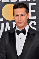 LOS ANGELES, CA. January 06, 2019: Andy Samberg  at the 2019 Golden Globe Awards at the Beverly Hilton Hotel.<br /> Picture: Paul Smith/Featureflash