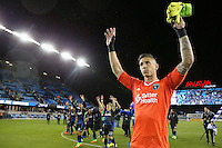 San Jose, CA - Saturday, March 04, 2017: David Bingham after a Major League Soccer (MLS) match between the San Jose Earthquakes and the Montreal Impact at Avaya Stadium.
