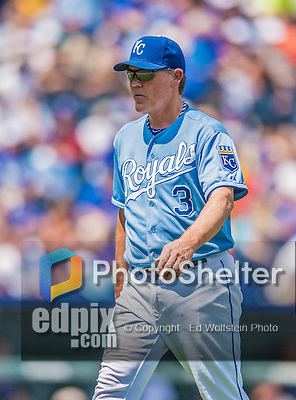25 August 2013: Kansas City Royals Manager Ned Yost walks back to the dugout during a game against the Washington Nationals at Kauffman Stadium in Kansas City, MO. The Royals defeated the Nationals 6-4, to take the final game of their 3-game inter-league series. Mandatory Credit: Ed Wolfstein Photo *** RAW (NEF) Image File Available ***