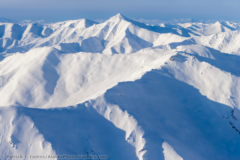 Aerial view of the Brooks Range, Gates of the Arctic National Park, Arctic Alaska