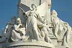 Close-up of the Victoria Memorial in front of Buckingham Palace, London UK
