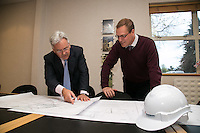 MP Alan Duncan with Plant Manager Stewart Jones at Hanson Cement works, Ketton