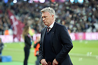 West Ham United manager David Moyes during West Ham United vs Stoke City, Premier League Football at The London Stadium on 16th April 2018