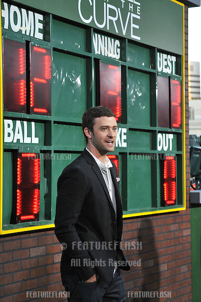 """Justin Timberlake at the premiere of his movie """"Trouble With The Curve"""" at the Mann Village Theatre, Westwood..September 19, 2012  Los Angeles, CA.Picture: Paul Smith / Featureflash"""