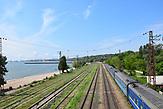 Das Meer und die Bahn Mariupol