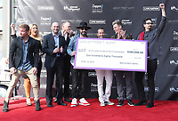 12 April 2019 - Las Vegas, NV - BackStreet Boys, Brian Littrell, AJ McLean, Howie Dorough, Nick Carter, Kevin Richardson. Backstreet Boys Hand print ceremony at Planet Hollywood Resort and Casino. Photo Credit: MJT/AdMedia
