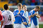 St Johnstone v Dundee.....02.01.13      SPL.Murray Davidson lines up before kick off.Picture by Graeme Hart..Copyright Perthshire Picture Agency.Tel: 01738 623350  Mobile: 07990 594431