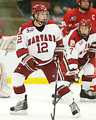 Colin Moore (Harvard - 12) - The visiting Cornell University Big Red defeated the Harvard University Crimson 2-1 on Saturday, January 29, 2011, at Bright Hockey Center in Cambridge, Massachusetts.