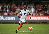 Tafari Moore (FC Utrecht, loan from Arsenal) of England in action after training earlier this week with the England full squad during the International match between England U20 and Brazil U20 at the Aggborough Stadium, Kidderminster, England on 4 September 2016. Photo by Andy Rowland / PRiME Media Images.
