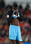 Dejection from Luca Joao of Sheffield Wednesday - Capital One Cup Quarter-Final - Stoke City vs Sheffield Wednesday - Britannia Stadium - Stoke - England - 1st December 2015 - Picture Simon Bellis/Sportimage