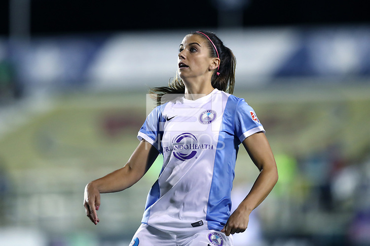 Cary, North Carolina  - Saturday September 30, 2017: Alex Morgan during a regular season National Women's Soccer League (NWSL) match between the North Carolina Courage and the Orlando Pride at Sahlen's Stadium at WakeMed Soccer Park. Orlando won the game 3-2.