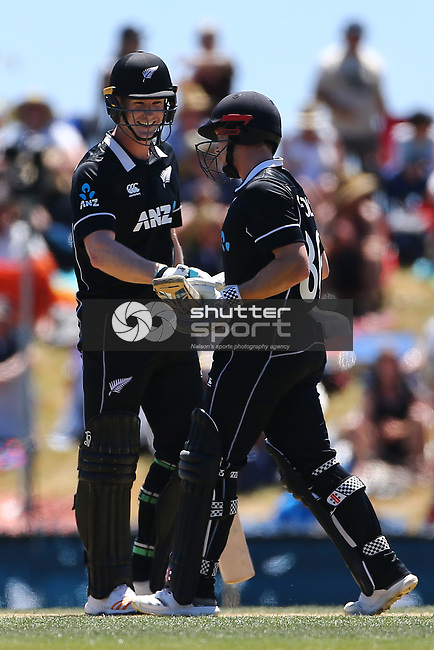 NELSON, NEW ZEALAND - JANUARY 8:  Black Caps v Sri Lanka  3rd ODI Saxton Oval on January 8 2019 in Nelson, New Zealand. (Photo by:  Shuttersport Limited)