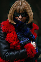 Anna Wintour attends Day 4 of New York Fashion Week on Feb 16, 2015 (Photo by Hunter Abrams/Guest of a Guest)