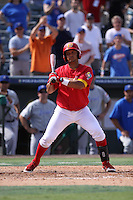 Blake Ochoa of Team Spain at bat during a game against Team Israel during the World Baseball Classic preliminary round at Roger Dean Stadium on September 21, 2012 in Jupiter, Florida. Team Israel defeated Team Spain 4-2. (Stacy Jo Grant/Four Seam Images)