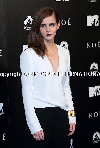 EMMA WATSON<br /> attends the premiere of &quot;Noah&quot; at the Palafox Cinema, Madrid_17/3/2014<br /> Mandatory Credit Photo: &copy;NEWSPIX INTERNATIONAL<br /> <br /> **ALL FEES PAYABLE TO: &quot;NEWSPIX INTERNATIONAL&quot;**<br /> <br /> IMMEDIATE CONFIRMATION OF USAGE REQUIRED:<br /> Newspix International, 31 Chinnery Hill, Bishop's Stortford, ENGLAND CM23 3PS<br /> Tel:+441279 324672  ; Fax: +441279656877<br /> Mobile:  07775681153<br /> e-mail: info@newspixinternational.co.uk