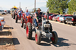 Tractor parade at the annual EDGE & TA chapter 132 tractor show and pull in Bill Ramsus ranch in the Carson Valley