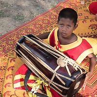 Traditional Thai Drummer Boy, Musician at Phra Nakhon Si Ayutthaya, Thailand