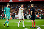Spain's David de Gea and England's Eric Dier have words with the referee during UEFA Nations League 2019 match between Spain and England at Benito Villamarin stadium in Sevilla, Spain. October 15, 2018. (ALTERPHOTOS/A. Perez Meca)