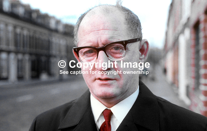 William Ritchie, candidate, NILP, St Anne&rsquo;s, by-election, N Ireland Parliament, Stormont, Belfast, November, 1970. 197011000379a<br />