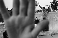 Children playing in the buffer zone