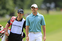 Rory McIlroy (NIR) and Harry Diamond at the 9th green during Sunday's Final Round of the WGC Bridgestone Invitational 2017 held at Firestone Country Club, Akron, USA. 6th August 2017.<br /> Picture: Eoin Clarke | Golffile<br /> <br /> <br /> All photos usage must carry mandatory copyright credit (&copy; Golffile | Eoin Clarke)