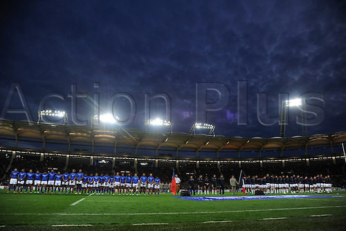 12.11.2016. Stadium Toulouse, Toulouse, France. Autumn International rugby match, France versus Samoa.  Minutes Silence