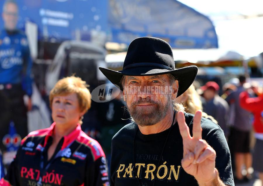 Nov 1, 2014; Las Vegas, NV, USA; NHRA sponsor John Paul DeJoria in attendance during qualifying for the Toyota Nationals at The Strip at Las Vegas Motor Speedway. Mandatory Credit: Mark J. Rebilas-USA TODAY Sports