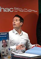 November 27 2017, PARIS FRANCE The Astronaut Thomas Pesquet signing copies of his book Terres at the Fnac Ternes<br /> Paris. # THOMAS PESQUET DEDICACE SON LIVRE